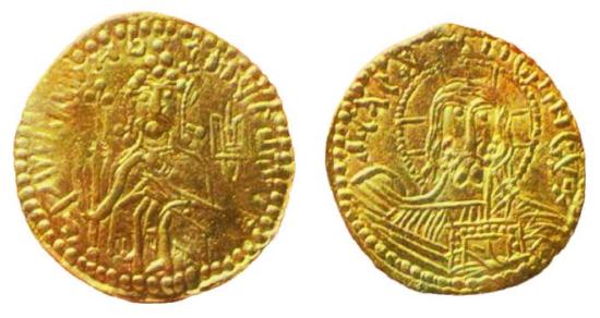 Первая русская монета из золота