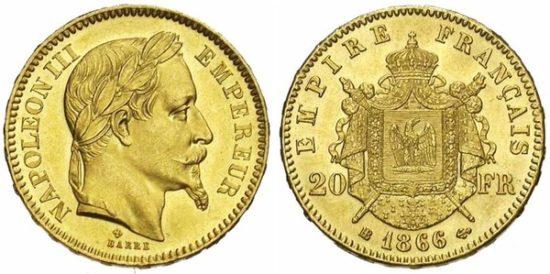 Старинная французская золотая монета