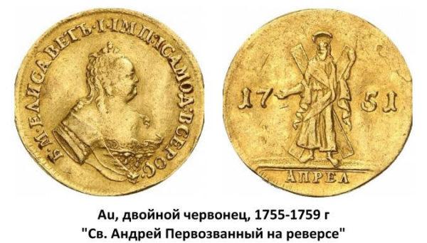 Золотые монеты: чеканка царской России